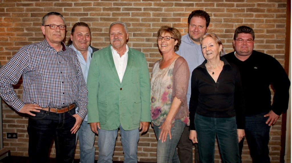 v.l.: Dietmar Zanger, Michael Sapper, Dieter Keller, Birgitt Zanger, Martin Horne, Isa Baltzer, Markus Mehr