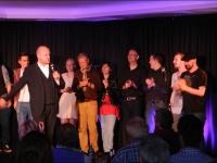KGB - 11.10.2014 - v.l.: InsertCoin, Gerd Burrmann, Lena Poppe, Norbert Bandur, Acoustic Senuality, Strings'N'Stories