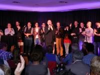 KGB - 11.10.2014 - v.l: Hildegart Scholten, Torsten Schlosser, InsertCoin, Gerd Burrmann, Norbert Bandur, Acoustic Sensuality, Strings'N'Stories